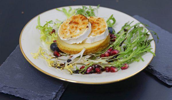 Karamellisierte Birne mit Ziegenkäse Eine winterliche Vorspeise 1