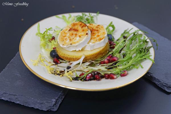 Karamellisierte Birne mit Ziegenkäse ~ Eine winterliche Vorspeise - Mimis Foodblog