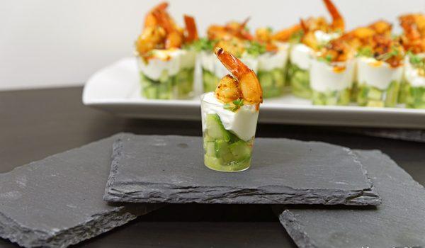Amuse Gueule mit Avocado und Shrimps der perfekte Sart für ein geselliges Menü 4