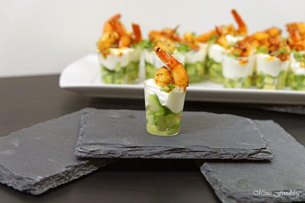 Amuse-Gueule mit Avocado und Shrimps ~ der perfekte Sart für ein geselliges Menü