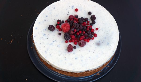 Schokoladenkuchen mit Stracciatella Topping 1
