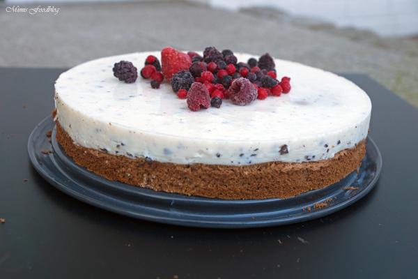 Schokoladenkuchen mit Stracciatella Topping 2