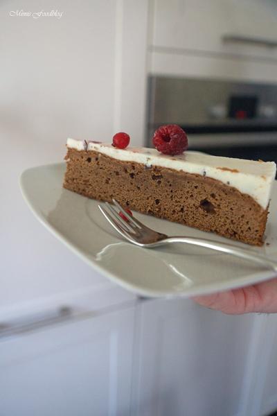 Schokoladenkuchen mit Stracciatella Topping 7