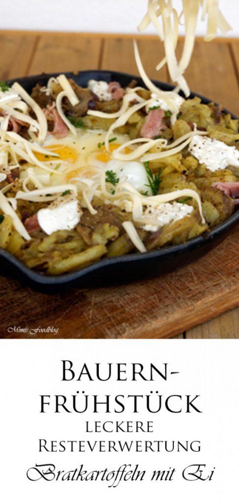 Bauernfruehstueck Bratkartoffeln mit Ei 4