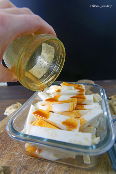 Selleriepommes aus der Heissluftfritteuse schnell und knusprig 5
