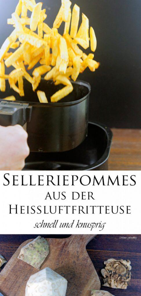 Selleriepommes aus der Heissluftfritteuse schnell und knusprig 9