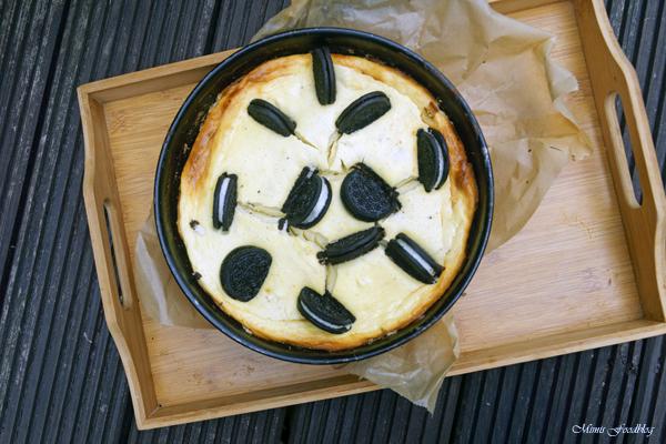 Cheesecake mit Schoko Keksen einfacher und leckerer Kaesekuchen 1