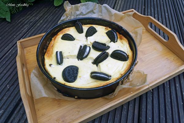 Cheesecake mit Schoko Keksen einfacher und leckerer Kaesekuchen 4
