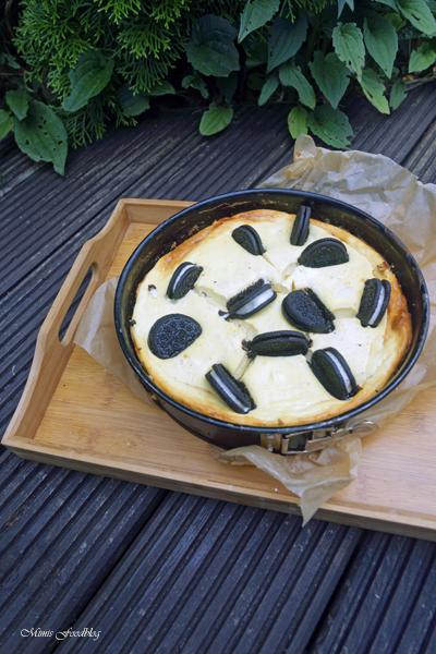 Cheesecake mit Schoko Keksen einfacher und leckerer Kaesekuchen 5